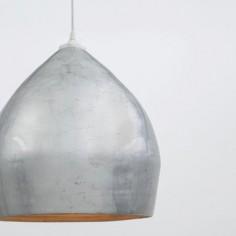 Lámpara colgante pan de plata lacada interior bambú