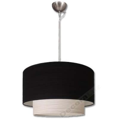 Lámpara colgante grande 2 pantallas colores negro blanco