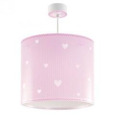 Lámpara infantil colgante Sweet Dreams rosa con corazones