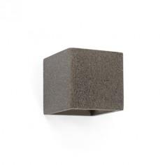 Aplique de pared moderno Kamen cuadrado en cemento gris