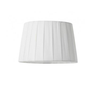Pantalla tono crema para lámpara en textil con tablas