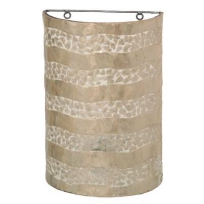 Aplique para pared en nácar con franjas y mosaico