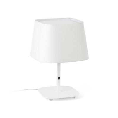 Lámpara de sobremesa Sweet blanca en metal y textil