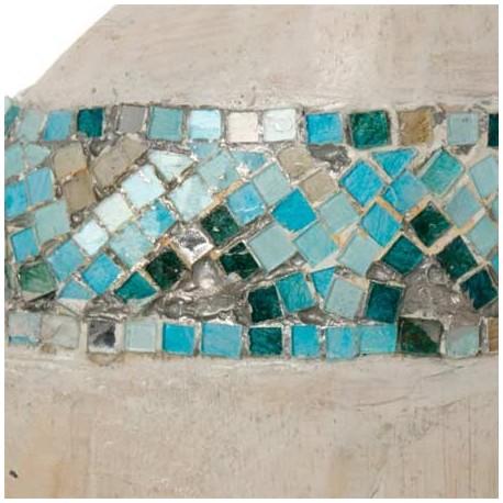 Comprar jirafas decoraci n madera y mosaico azul set de - Mosaico de madera ...