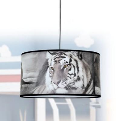 Lámpara juvenil colgante Salvaje animales tigres y elefantes