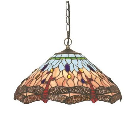 Comprar Lámpara techo colgante Tiffany Dragonfly tulipa cristales ...