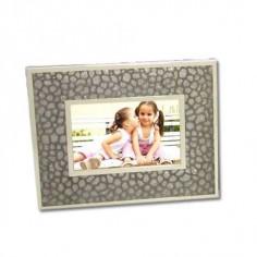 Portafotos metal con detalles acolchados 15x20cm