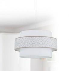 Lámpara infantil Sueños color piedra doble pantalla blanca