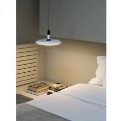 Lámpara colgante Planet LED metal blanco con difusor opal