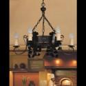 Lámpara rústica Rústico seis luces en forja negro mate