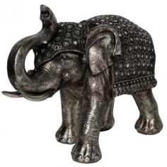 Figura decoración de elefante bronce en resina