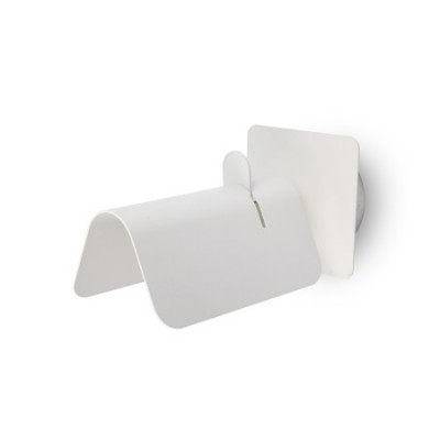 Aplique de pared Smile moderno blanco metal orientable