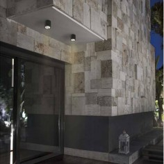 Plafón de techo para exterior Goz LED en gris oscuro