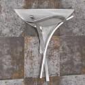 Lámpara pared plata envejecida tulipa cristal alabastro