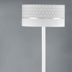 Lámpara de pie infantil Estrellas en gris y blanco