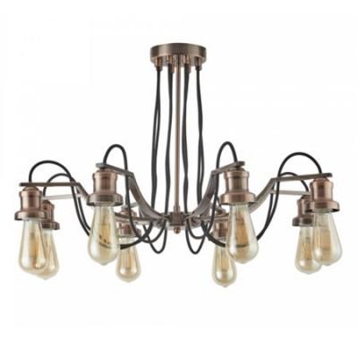 Lámpara techo vintage Olivia ocho luces en cobre