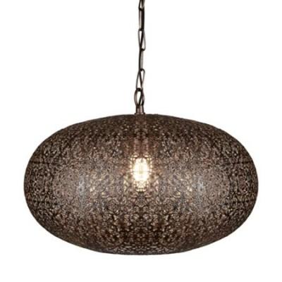Colgante estilo árabe Fretwork metal cobre envejecido
