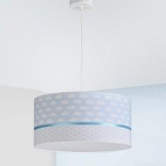 Lámpara infantil colgante Nubes en blanco y azul