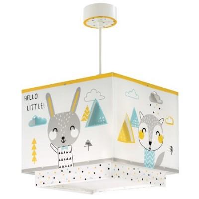 Colgante infantil Hello Little con animales y pantalla cuadrada