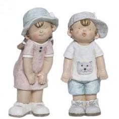 Juego figuras decorativas Niños en polirresina