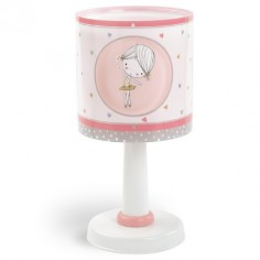 Lámpara sobremesa infantil Sweet Dance rosa y blanca