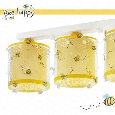 Lámpara infantil Bee Happy tres luces abejas amarillo