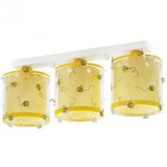 Lámpara infantil Bee Happy tres luces abejas amarillo