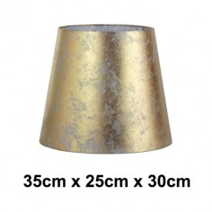 Pantalla lámpara Hermes dorado efecto pan de oro normal alta