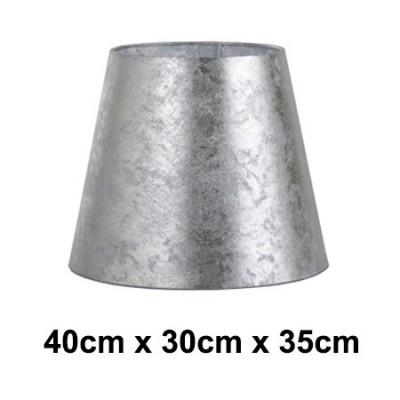 Pantalla normal alta Hermes plateada efecto pan de plata