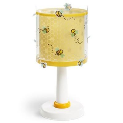 Lámpara de mesa infantil Bee Happy amarilla con abejas