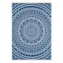 Cuadro decoración Mandala azul con marco