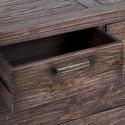 Cómoda colonial Antalia cinco cajones madera acabado wenge