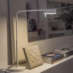 Lámpara mesa LED Academy regulable metal blanco