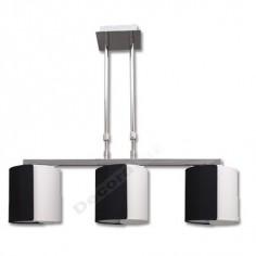 Lámpara moderna 3 pantallas dos colores blanco negro