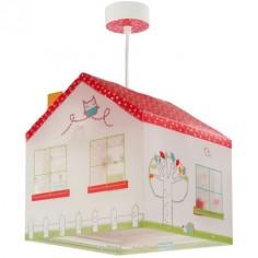 Lámpara colgante infantil My Sweet Home con forma de casa