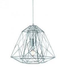 Colgante industrial Geometric Cage metal cromo geométrico