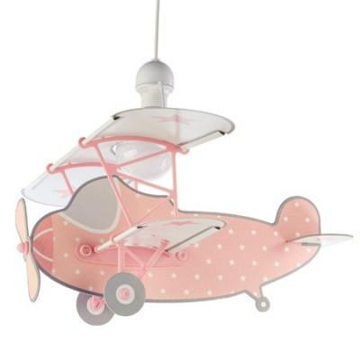 Lámpara Stars rosa forma de avión con estrellitas blancas