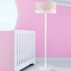 Lámpara infantil de pie Estrellas en rosa y blanco