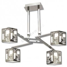 Lámpara 4 pantallas modernas Orleans negro blanco estilo actual