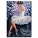Pintura decorativa de Bailarina en lienzo