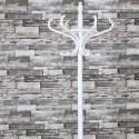 Perchero pie vertical decorativo en color blanco