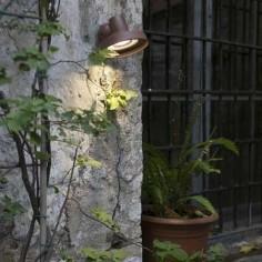 Aplique exterior para pared Bronx marrón en metal