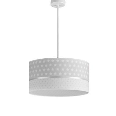 Lámpara infantil Estrellas en gris y blanco