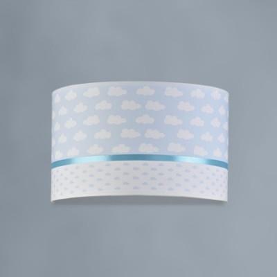 Aplique infantil Nubes textil azul y blanco