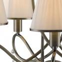 Lámpara Simplicity cinco luces en cuero con cristales