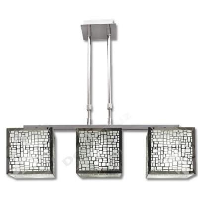 Lámpara barra cromada estilo moderno tres tulipas