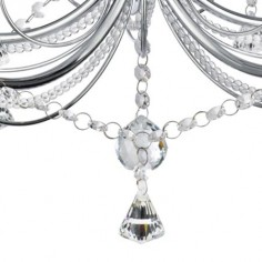 Lámpara clásica Lafayette cinco luces en cristal