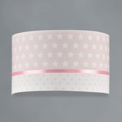 Aplique pared infantil Estrellas en rosa y blanco textil