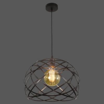 Lámpara techo colgante Bellona negro pantalla tiras metal