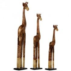 Jirafas decoración estilo étnico en madera distintos tonos